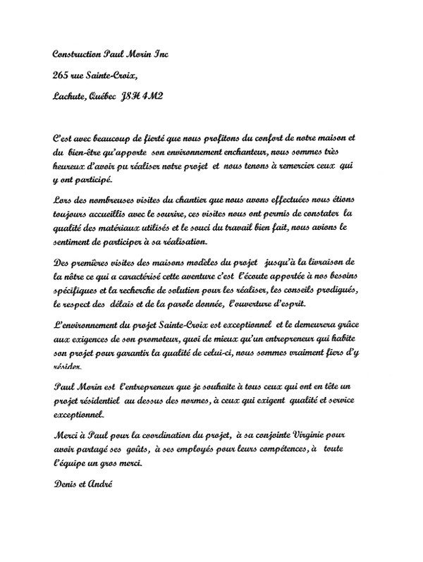 lettre Andre